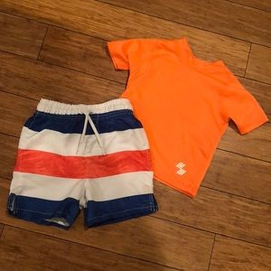 Other - Toddler Swim Trunks & Rash Guard